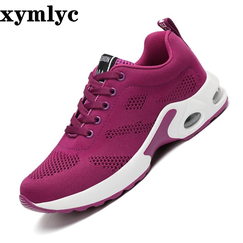 2019 Spring Autumn Korean Fashion Sneakers Women Lace Up Casual Shoes Basket Femme Red Purple Sneakers Ladies Tenis Feminino in Women 39 s Flats from Shoes