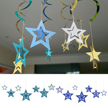 1 Set Creative Hollow Five-Pointed Star Ornaments Party Supplies Christmas Birth