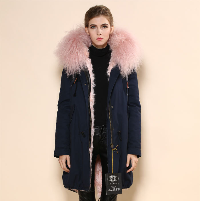 Popular Green Parka Coat with Pink Fur Hood-Buy Cheap Green Parka ...