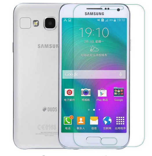 0.3mm 9H tempered glass For Samsung Galaxy E7 E700 e 7 screen protector protective guard film front glass + free clean kits