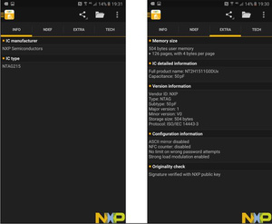 Image 2 - 1000 יחידות מדבקות NFC NFC Ntag215 ISO14443A דבק NFC תוויות תג לכל טלפון NFC זמין