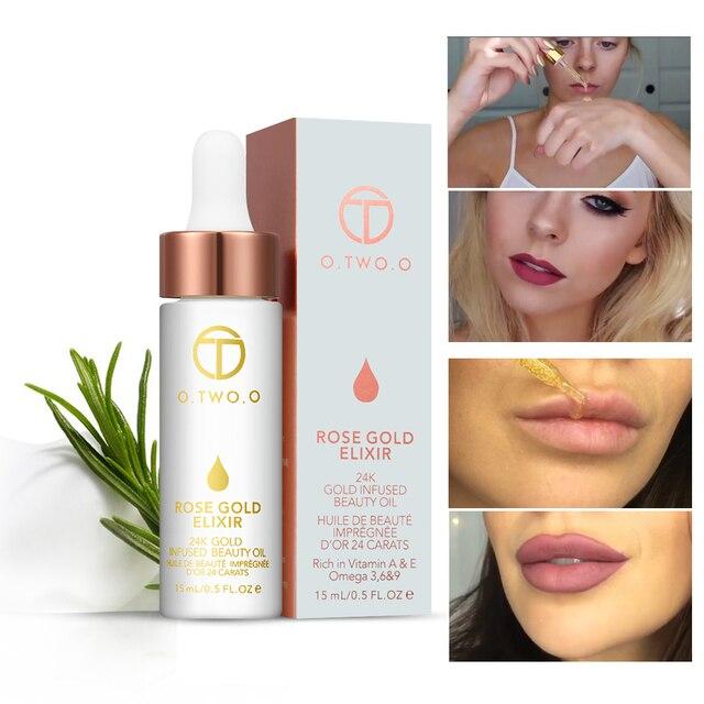 O. два. O основа под макияж Face Foundation Primer составляют крем увлажняющий масло Водонепроницаемый 24 К розовое золото эликсир кожи Make Up косметика
