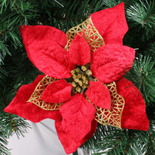20pcs 3 colorsavailable Christmas tree decoration flower 20cm high quality Xmas artificial poinsettia