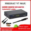 FREESAT V7 MAX 5 pcs usb wi-fi Receptor de Satélite 1080 P FULL HD DVB-S2 Suporte Ccam Powervu Freesat HD V7 frete Grátis