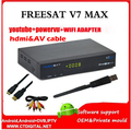 FREESAT V7 MAX 5 unids usb wifi Receptor de Satélite 1080 P FULL HD DVB-S2 Soporte Ccam Powervu Freesat HD V7 envío Gratis