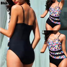 S - 5XL Large Size Swimsuits One-piece Suits Swimming for Women Swimwear 2019 Summer Big Chest Bating Suit Large Sizes 3XL 4XL недорго, оригинальная цена