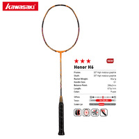 Kawasaki Attack Type Badminton Rackets HONOR H6 30T Carbon Firber Box Frame Racquet For Amateur Intermediate Players