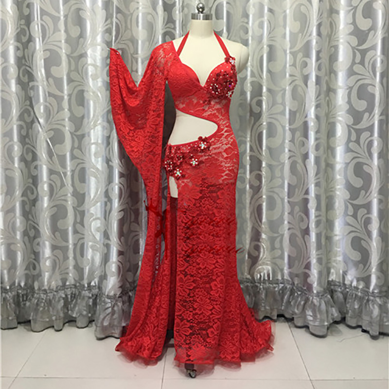 2018 New Hot Sale Belly Dance Costume For Ladies Red Color