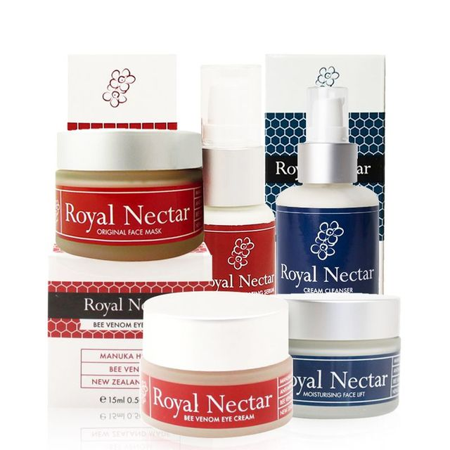 original NewZealand RoyalNectar SkinCare Set Manuka Honey Bee Face Mask Moisturising Face Lift Cream Night Cream Eye Cream Serum