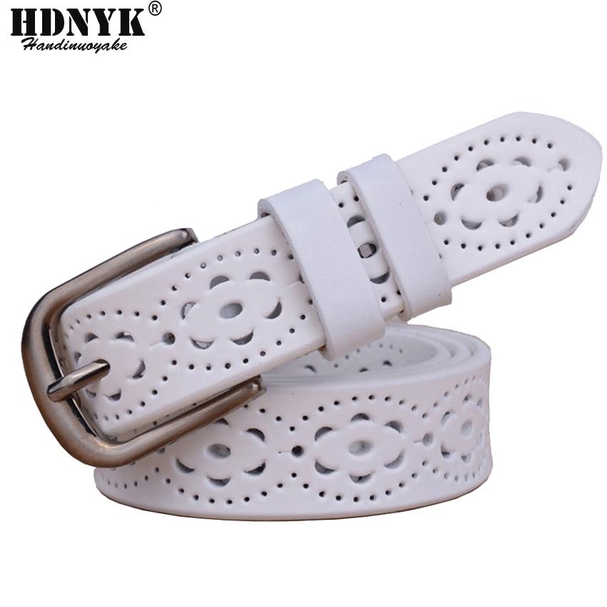 Offre Spéciale Haute Qualité De Luxe Femmes ceinture en cuir véritable femelle taille sangle supérieure boucle ardillon ceintures pour femmes lady ceinture