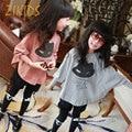 Meninas Camisetas Crianças Batwing Solta Casuais Camisas de Manga Longa para o Partido Dos Miúdos Roupas Da Moda Blusa Tops 2016 Outono Nova Venda