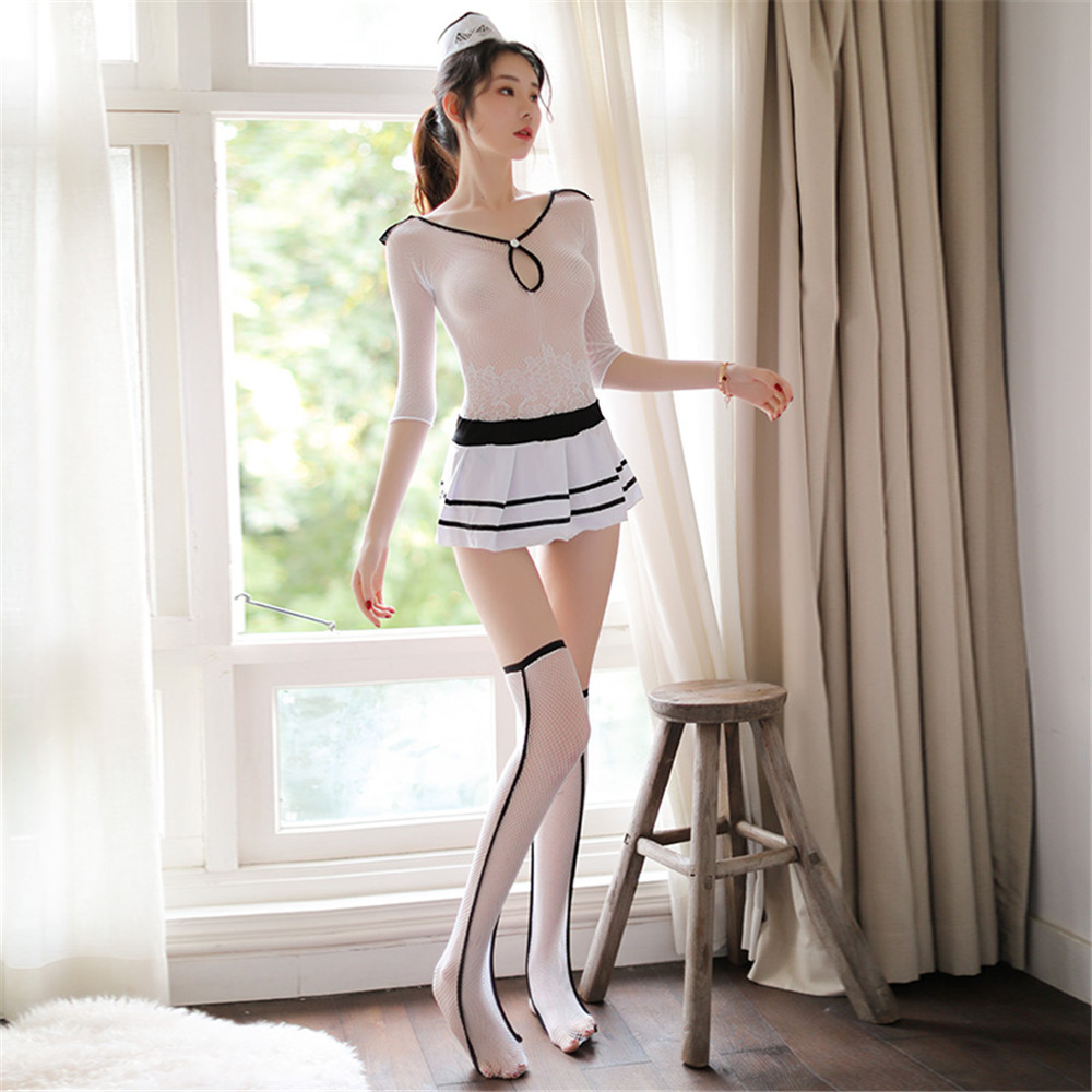 Hot Sexy Stewardess Lingerie Stewardess Costume Dress For Women Cosplay Sexy  Costumes Uniforms Suit