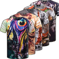 Dupla Face Front Side & Back Side 3D Camisa Impressão Abstrato Camiseta 20 Estilos 3 Tamanhos dos homens Tops T-Shirt Tees TX90-An-R1