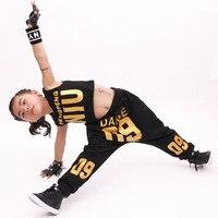 New Kid's Casual Sets Suits Fashion Summer Children Clothes Hip Hop Dance Set Costume Girls Clothing 2 Pcs Suit Boys Harem Pants