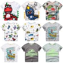 INPEPNOW/детская футболка для мальчиков, коллекция года, футболка для мальчиков и девочек с принтом динозавра, топы с рисунками, Детская футболка, одежда для детей возрастом от 5 до 14 лет