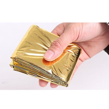 s Portable Folding Outdoor Safety Survival Retain Body Heat Emergency Space Rescue Thermal Mylar Gold Blankets 160*210cm