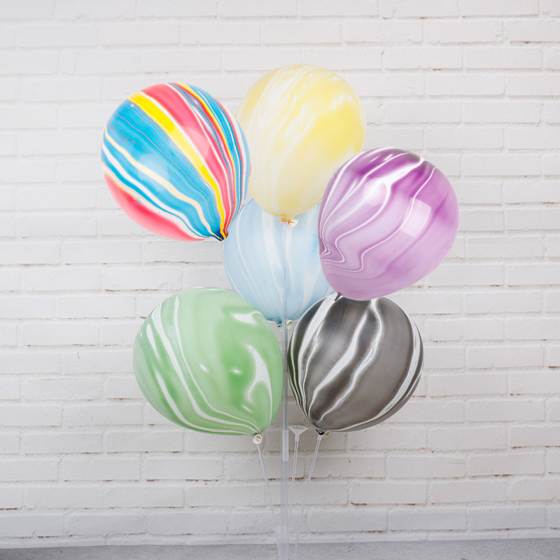 Quality Marble Agate Latex 10 Inch Balloon Party Birthday Decor Celebrations DIY
