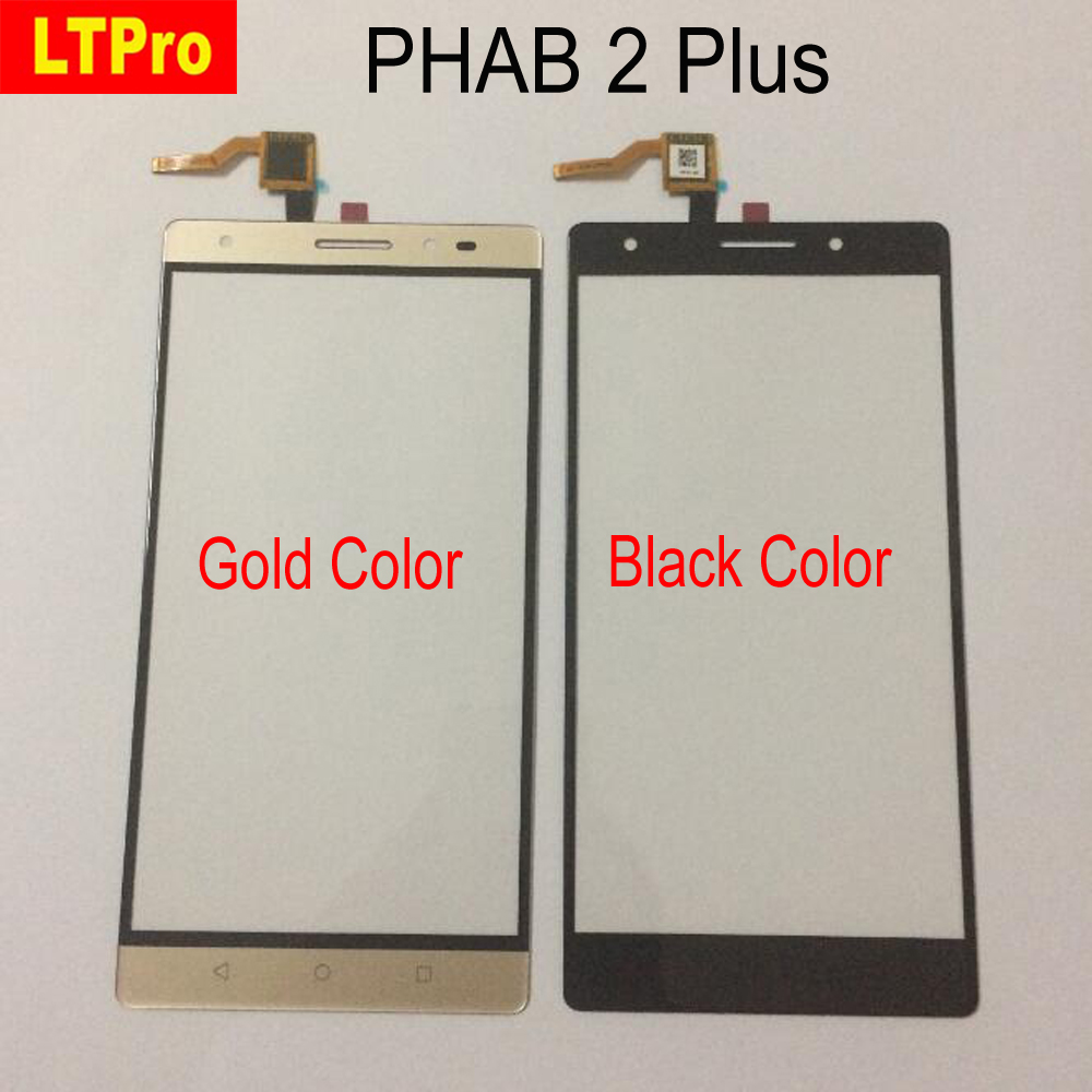 LTPro High Quality Gold Black Front Touch Screen Digitizer For Lenovo PHAB2 Plus PHAB 2 Plus PB2-670N Glass Panel Sensor Parts