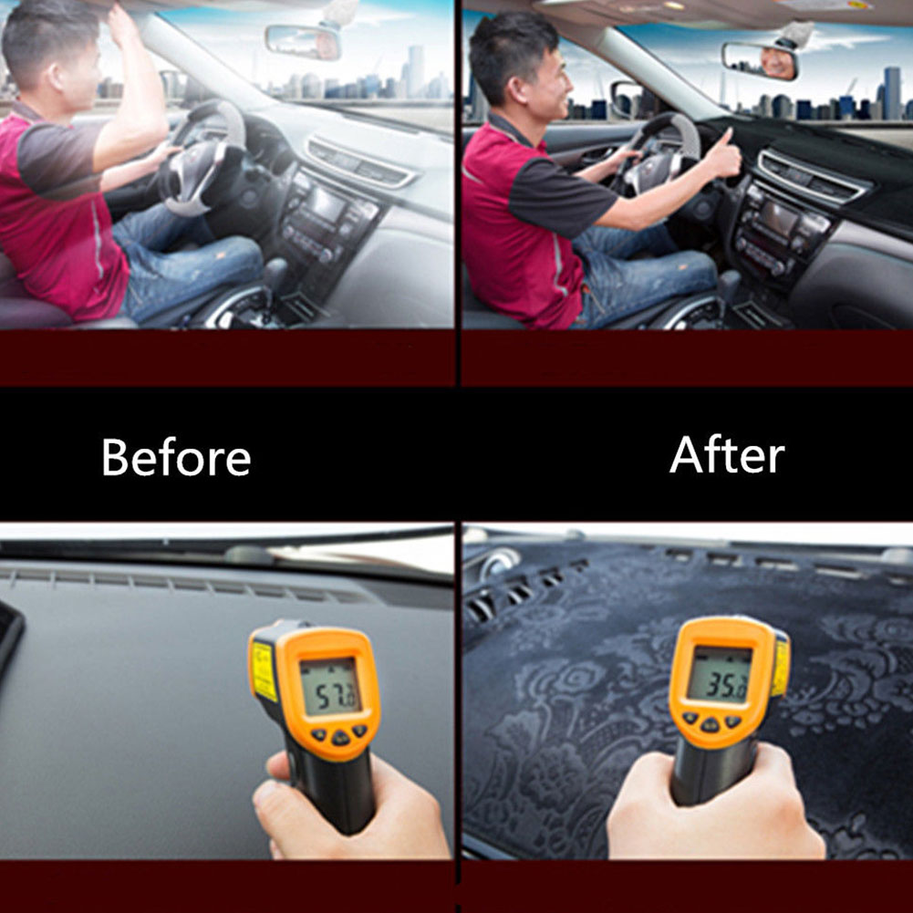 Накладка на приборную панель силиконовая Нескользящая черная Солнцезащитная Накладка для машины накладка левое сиденье водителя коврик для приборной панели автомобильные аксессуары