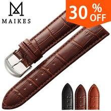 Maikes nuevo soft durable reloj accesorios genuinos de la correa de relojes de pulsera Banda de cuero Reloj de La Correa 16 18 20 22 24mm correas de reloj