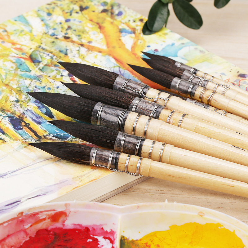 Watercolor Pen Squirrel Hair Brush Watercolor Paint Brush for Artist Drawing Art Supplies Include Product Box цены