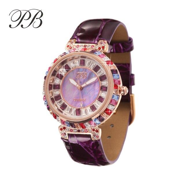 0eac63e03 Designer Watch UK Girls Diamond Chinese Watches Famous Full Rhinestones  Ladies Brand Wristwatch Bling Dress Orange HL540SPJ PB