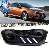 2PCs/set LED DRL Car daylight Daytime Running Lights For Honda Civic 2016 2017 new design drl light