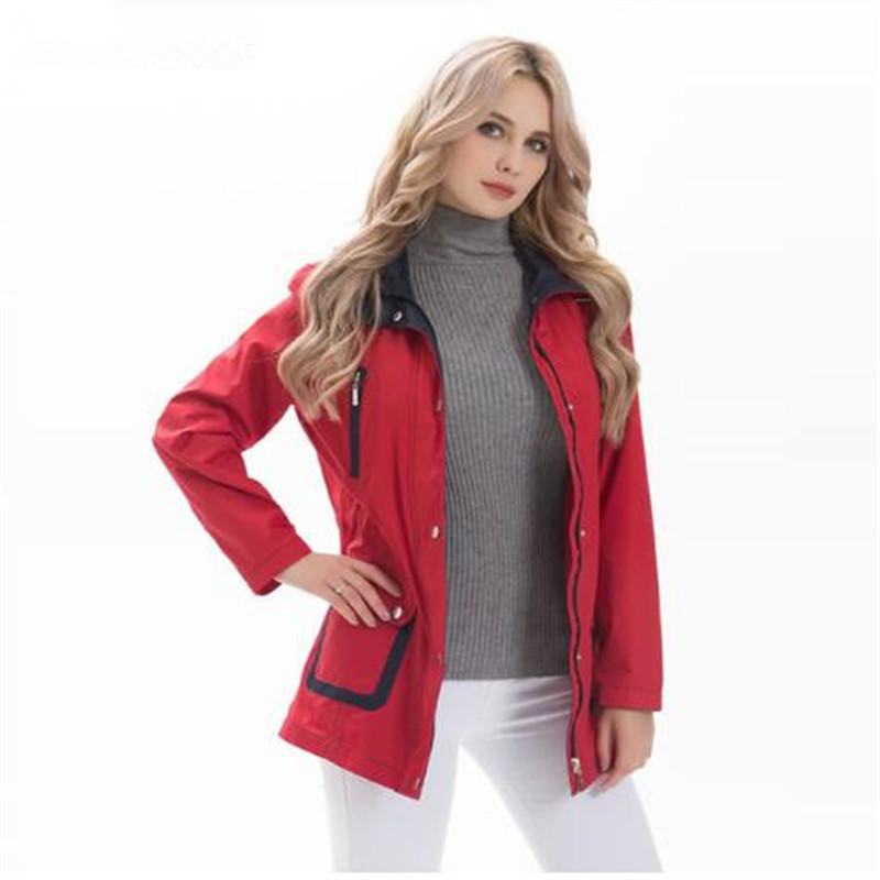 3d5b29dd0d0b 2018 2 Tunica Vestiti Tasca Lungo Il Formato Giacche Cappotto Donne Vento Lace  Up Giacca Delle 3 Modo Bianco 1 Pieghe Di ...