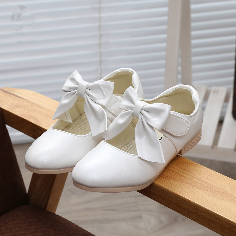2017 Children Girls Shoes Spring Leather Princess Shoes With Bow Fashion Party Shoes For Girl Kids Baby Single Performance Shoes