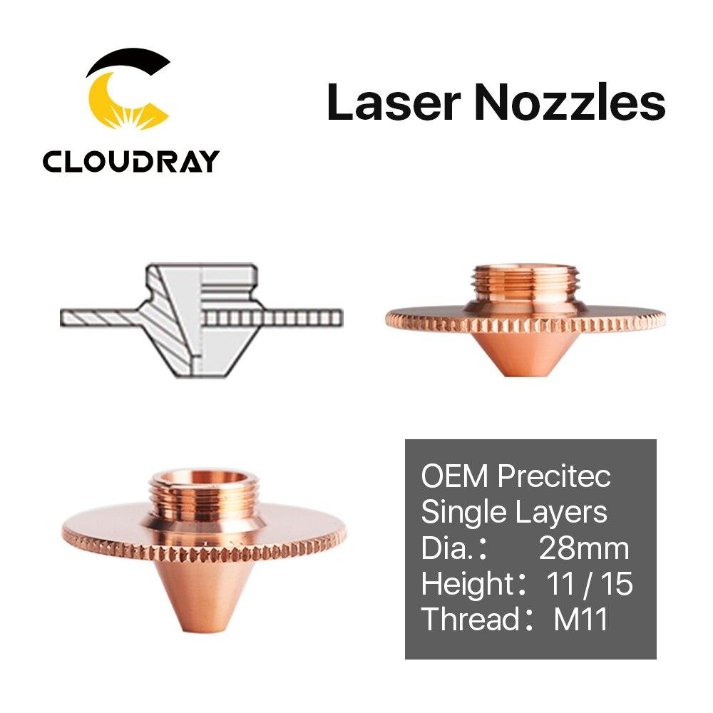 Cloudray Laser Bulge Nozzle Single Layer D28 H11/15 Caliber 0.8 - 4.0HD for Precitec 1064nm Fiber Laser Cutting Head