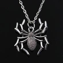 Новое модное ожерелье с круглым крестом в виде паука короткое