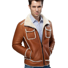 2017 Men's Guaranteed Natural Fur Jacket Real Sheepskin Genuine Leather Clothing Fur Wool Outerwear Winter Thick Fur Jackets