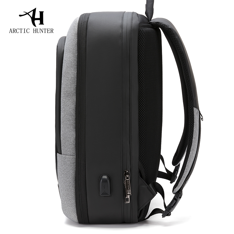 ARCTIC HUNTER mężczyźni plecak USB wielofunkcyjne do ładowania 17 Cal torba na laptopa duża pojemność wodoodporne torby podróżne na plecak w Plecaki od Bagaże i torby na  Grupa 3