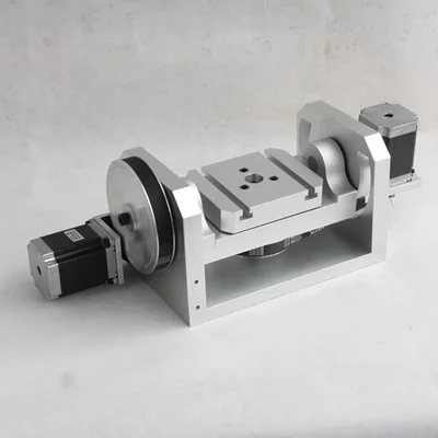 CNC dividing head, A shaft, rotary, fourth axis, fifth axis Table size 100MM*125MM
