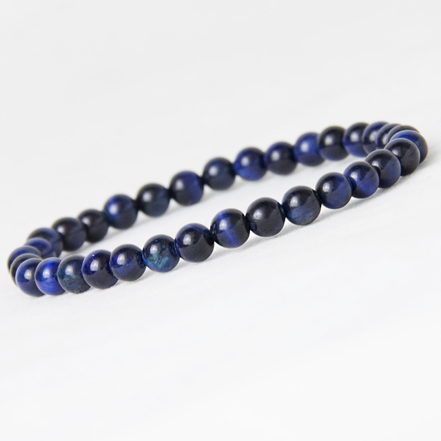 Bracelets Oeil de Tigre Bleu petite perle