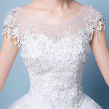 2019 New Simple O Neck Sleeveless Wedding Dress Sexy Backless Lace Applique Plus Size Custom Made Bridal Gown Robe De Mariee L