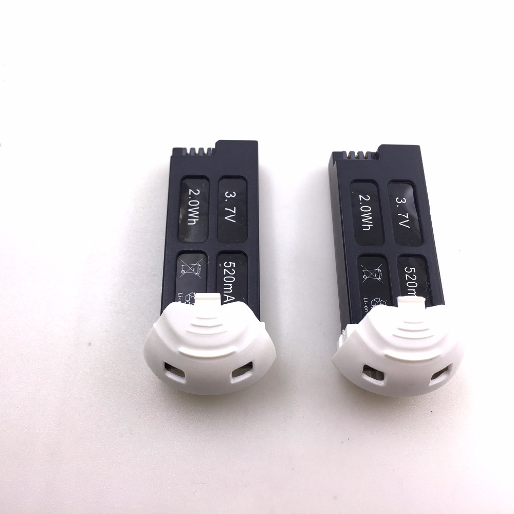 2PCS Original <font><b>3.7V</b></font> <font><b>520mAh</b></font> <font><b>Battery</b></font> For Hubsan FPV X4 Plus H107D+ <font><b>battery</b></font> RC Quadcopter (Hubsan FPV X4 Plus <font><b>battery</b></font>) spare parts image