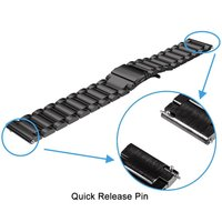 galaxy s4 20mm Bracelet Strap For Xiaomi Huami Amazfit Bip Metal Watch Band For Samsung Galaxy Watch Active S2 S4 Silicone Pulsera Correa (3)