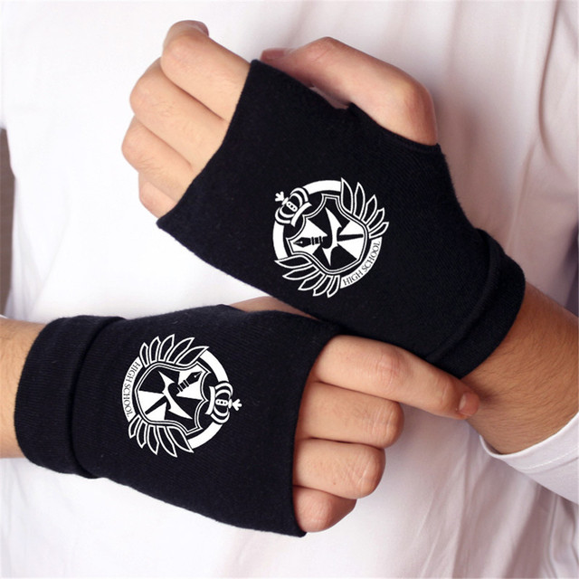 Anime Gloves Cotton Knitting Wrist Gloves: Attack on Titan, Madara,