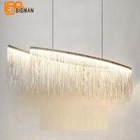 Овальный дизайн современный светодиодный Люстра chrome подвесные светильники дневного warmwhite столовая люстра магазин свет