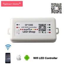 Smart SP108E Wi-Fi контроллер светодио дный пикселей по телефону iOS приложение для Android для WS2811 WS2812B WS2813 SK9822 APA102 Светодиодные ленты свет DC5-24V