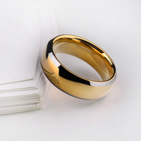 Hot Sale 18K Gold Plating Man S Rings Hardness Tungsten Carbide Comfort Fit Band With Free