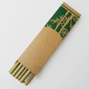 Image 5 - Nuttig 10 stks/set Bamboe Rietjes Herbruikbare Milieuvriendelijke Party Keuken + Schone Borstel voor Drop Verzending groothandel
