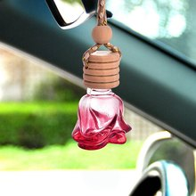 Car Perfume Bottle Empty Hanging Bottle for Essential Oils Perfume Pendant Auto Ornament(China)