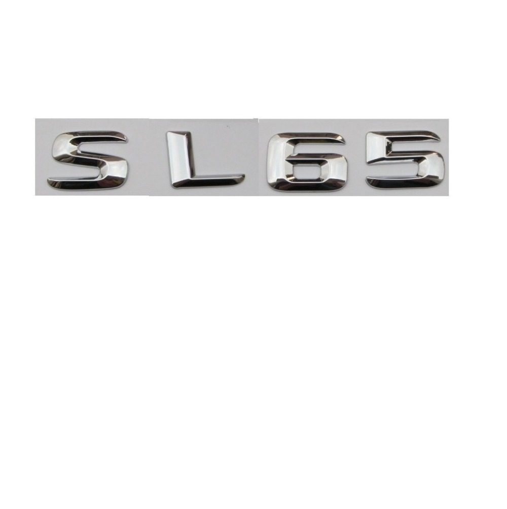Gloss Black 3D Number Letters Rear Trunk Badge Emblem for Mercedes Benz SL63 AMG