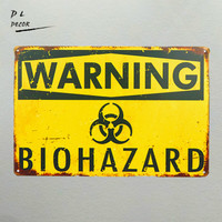 DL-Предупреждение Рабочий стол с вытяжным шкафом и знак опасности наклейки для обозначения опасности Новый металлический знак