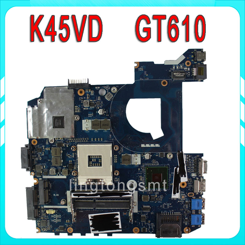 Original for ASUS K45VD motherboard QCL40 LA-8221P REV1.0 Mainboard PGA 989 GeForce 610M 2G Ram 100% tested ювелирное изделие 01p325665