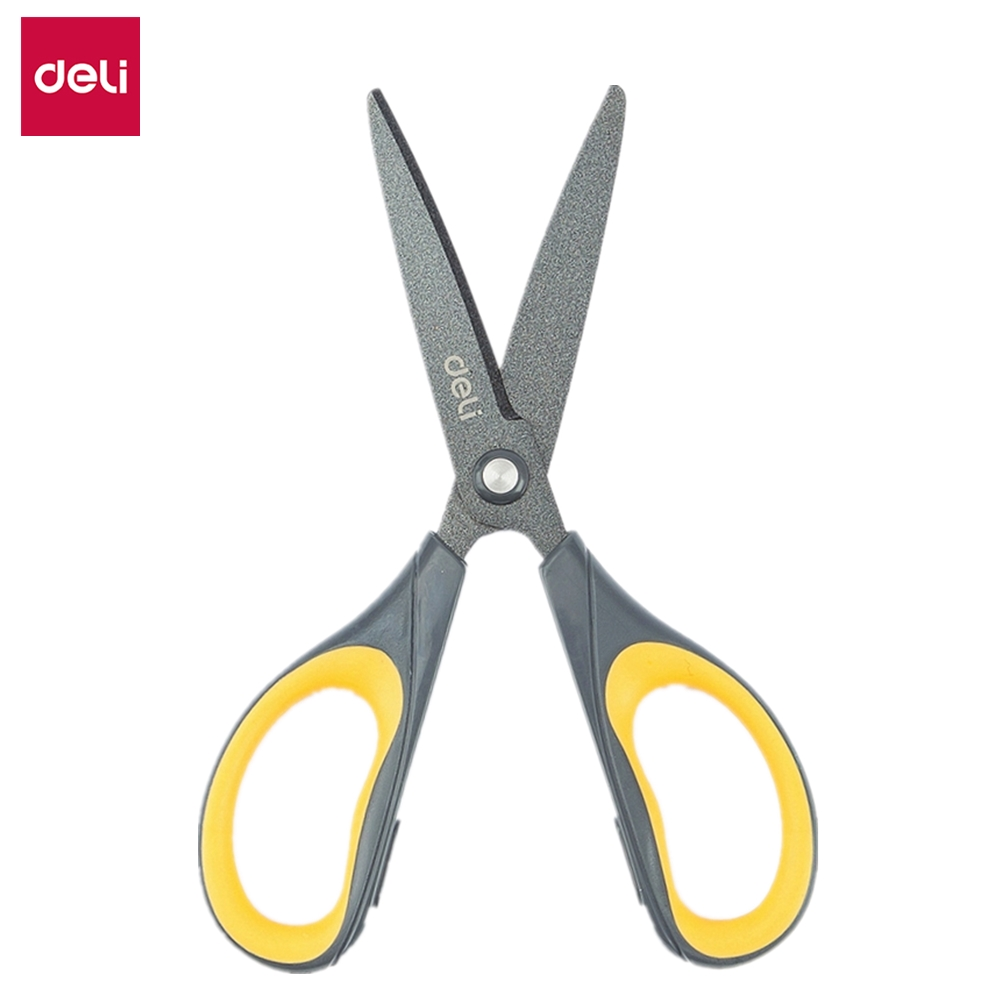 DELI Scissors E6055 Soft-touch Teflon Effortless 170mm 6-3/5 Inch Home Office Scissor Hand Craft Scissors Stationery
