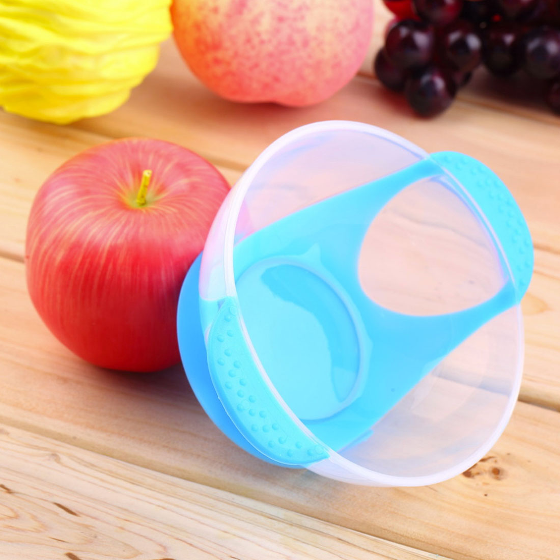 Baby Infants feeding Bowl With Sucker and Temperature Sensing Spoon Suction Cup Bowl Slip resistant Tableware 2016 New
