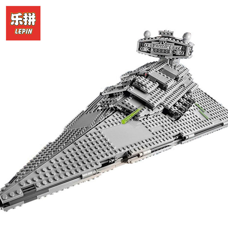 Lepin 05062 The Super Star Wars Fighting Destroyer Model Building Kits Blocks Bricks Compatible LegoINGlys 75055 Toys